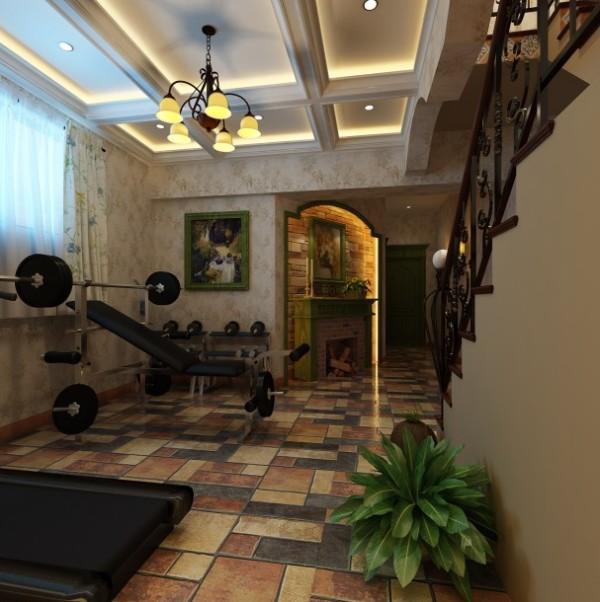 美式风格别墅装修大气地下室