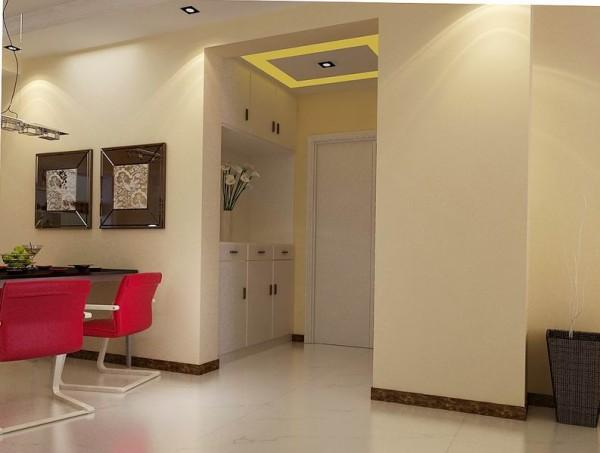 英地天骄华庭 三居室 简约风格 装修设计 案例 效果图 赏析--玄关
