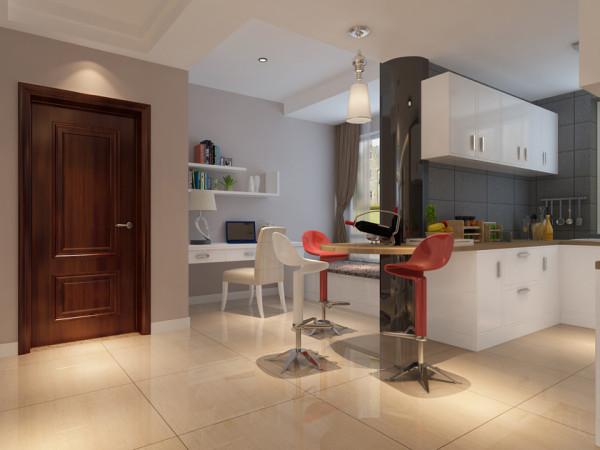 保利梧桐语117平现代简约风开放式厨房
