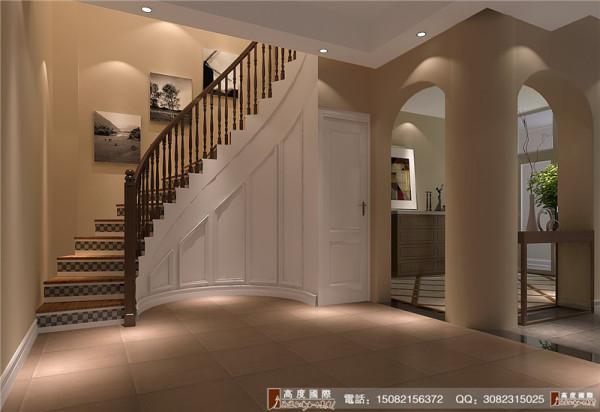 恒大金碧天下楼梯细节效果图-----高度国际装饰设计