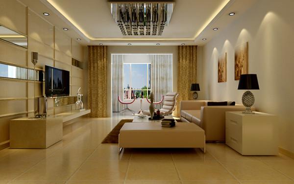 金盾未来花园 简约风格 装修设计 案例 效果图 赏析--客厅