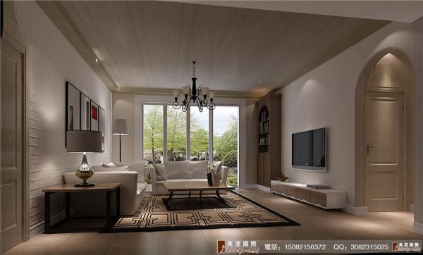 恒大金碧天下客厅细节效果图-----高度国际装饰设计
