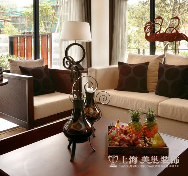 普罗旺世别墅装修新中式风格设计——客厅一角