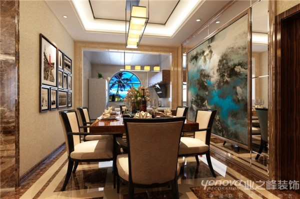 本方案为三室两厅结构,层高3100,空间开阔,适合简约大气的风格,厨房餐厅空间略小,拆除部分墙体,做成开放式厨房,合理利用空间。