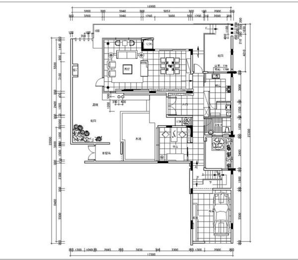 普罗旺世别墅装修新中式风格设计——一楼平面布局图 案例来源:http://www.chinamaco.cn/demo-info-140.html?u=19