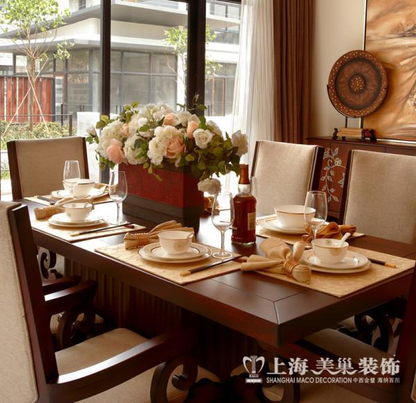 普罗旺世别墅装修新中式风格设计——餐厅2