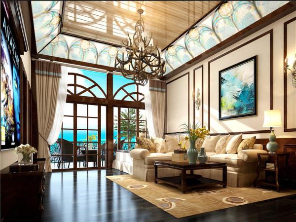 休闲区:在配饰上,以华丽、明亮的色彩,配以精美的造型达到雍容华贵的装饰效果。局部点缀绿植鲜花,营造出自然舒适的氛围。