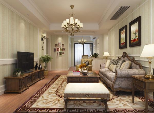 世纪花园三房户型装修简约美式风格设计方案展示,腾龙别墅设计师林财表作品,欢迎品鉴!