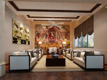圣地维拉别墅装修泰式风格设计