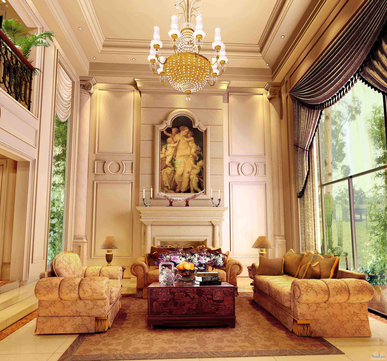 简约欧式田园混搭三居别墅客厅卧室厨房装修效果图片图片