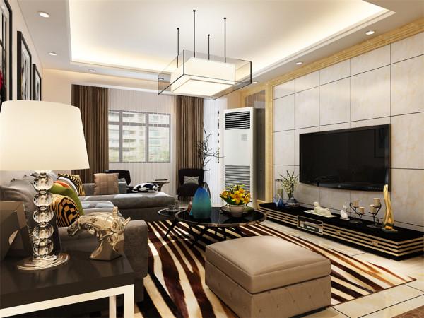 本方案三室两厅一厨两卫的居室,客厅设计采用简约明朗的线条