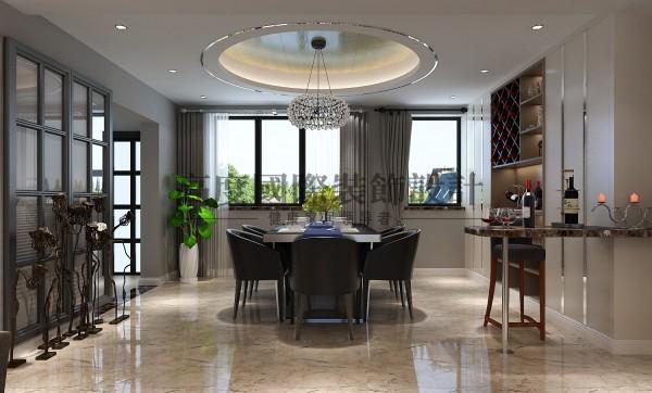 【高清】桐梓林装修140㎡案例 餐厅装修 成都高度国际装饰设计
