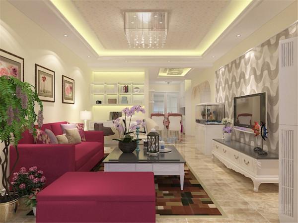 这是一套碧水家园2室两厅1厨1卫110㎡的户型。设计风格为现代简约风格。
