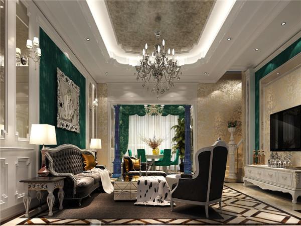 客厅:简欧风格就是简化了的欧式装修风格。也是目前住宅别墅装修最流行的风格。简欧风格更多的表现为实用性和多元化。