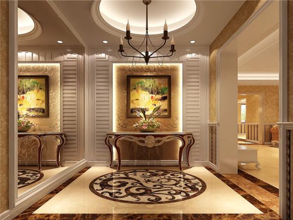 门厅强调表面装饰,多运用细密绘画的手法,具有丰富华丽的效果。