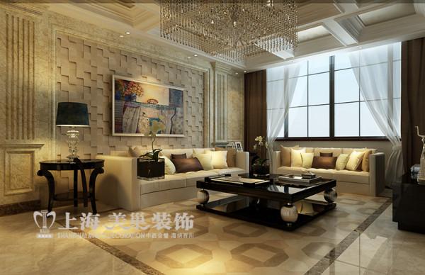 中森林语美墅365平方别墅装修360平现代欧式效果图案例——客餐厅布局