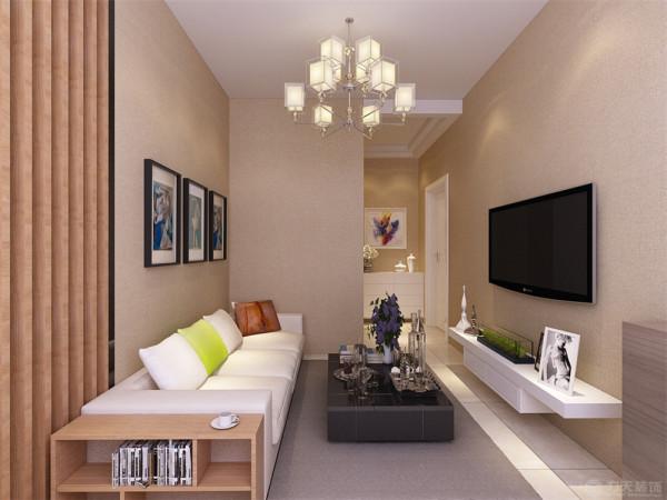 由于客厅的空间采光比较不好所以在选择上我们选择了稍微明亮的暖色调来修饰