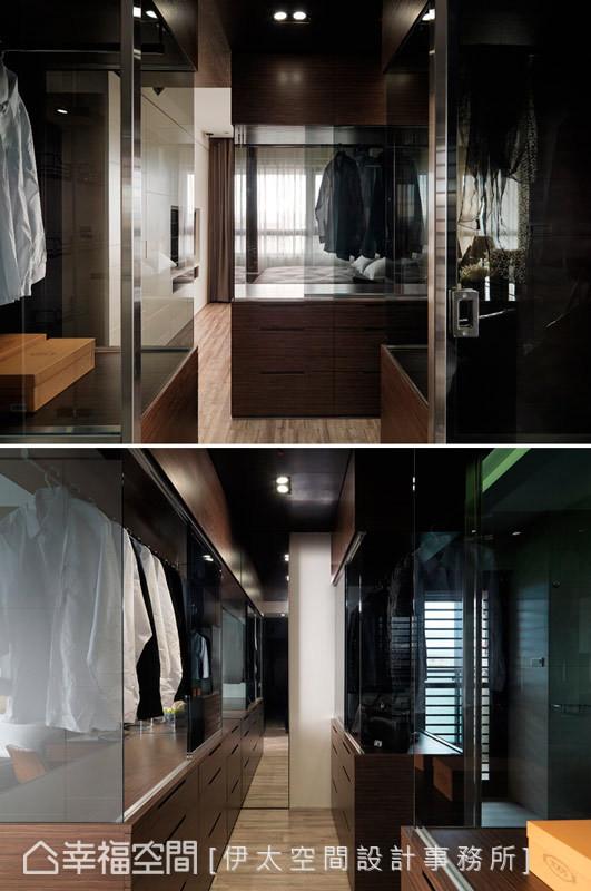 彷佛精品柜的更衣室设计,呈现低调时尚的细腻质感。
