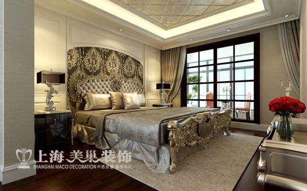 中森林语美墅365平方别墅简欧风格装修样板间案例效果图——卧室布局