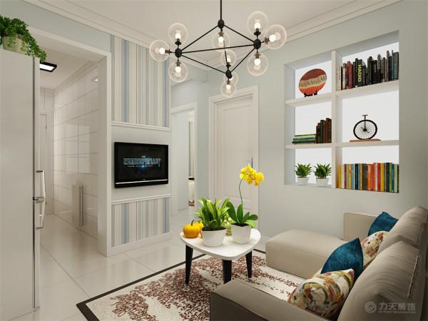 这套户型是两室一厅一厨一卫的小户型。这套方案做的是现代简约风格。
