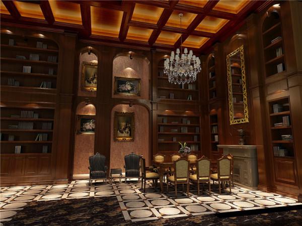 复古的书房设计有着无限安静的空间氛围,这样的静谧空间对于阅读者来说是一种享受,很多时候我们需要一次无人的打扰私人生活,让紧张的大脑有一个缓冲、休息的空间。