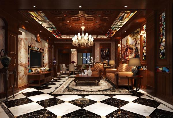 尚东鼎126号别墅装修美式风格设计真实案例展示