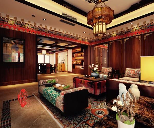 装修 古典 新中式× 客厅图片来自美家堂装饰小刘在新中式混搭新藏式