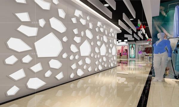 不规则几何图案的镂空装饰增添了时尚的现代感
