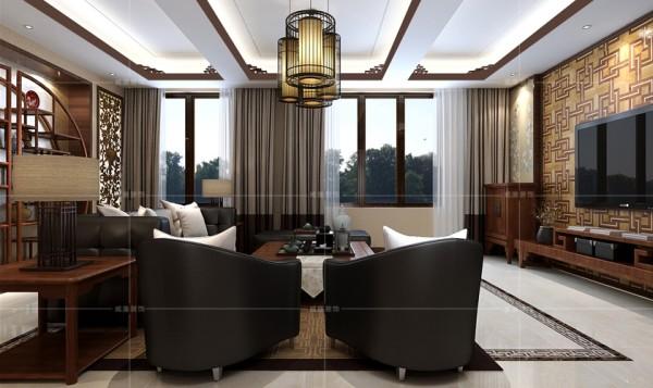造型别致的鸟笼形吊灯成为整个客厅的视觉焦点