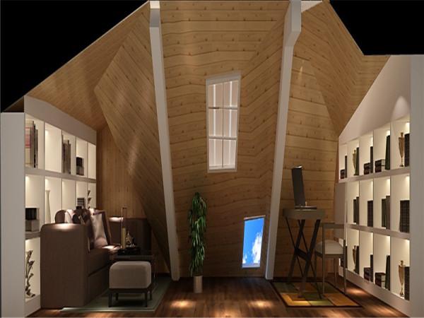 阁楼:讲求风格,在造型设计的不是仿古,也不是复古而是追求神似。