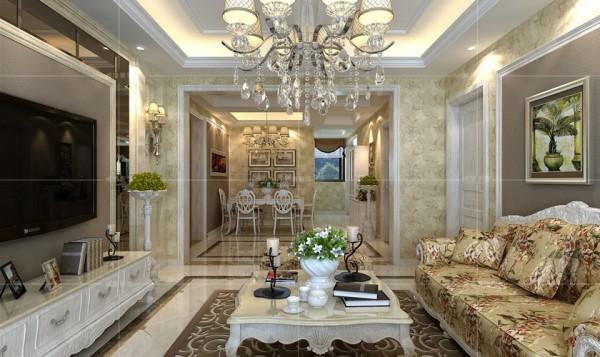 垭口的设置将客厅与餐厅分隔开,使布局更为合理,增添空间的纵深感