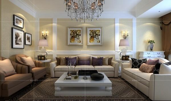 几何图案地毯与欧式壁灯营造出温馨的家庭氛围