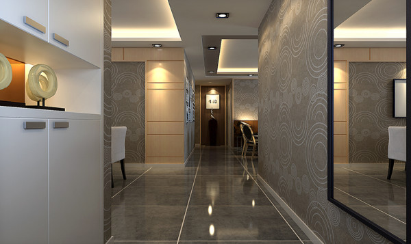 浅咖啡色壁纸渲染出大气时尚的格调