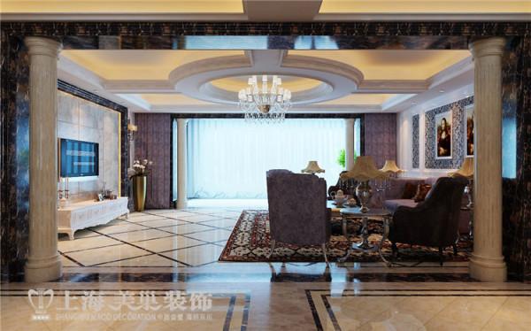 银基王朝别墅装修新古典设计方案——客厅