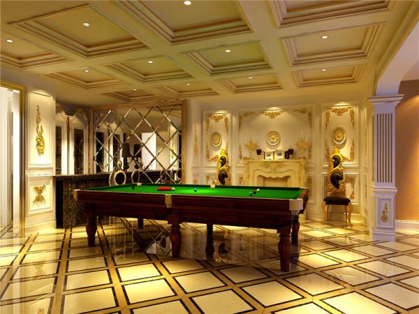 休闲区:以华丽、明亮的色彩,配以精美的造型达到雍容华贵的装饰效果。