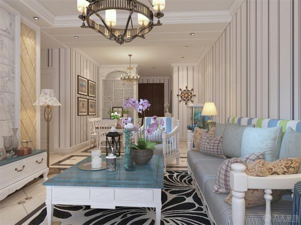 本案为天骥筑璟,2室2厅1卫1厨 88㎡的户型。本案风格定义为地中海风格,素色系。