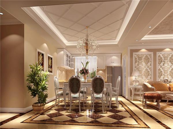 餐厅强调以华丽的装饰、浓烈的色彩、精美的造型达到雍容华贵的装饰效果。
