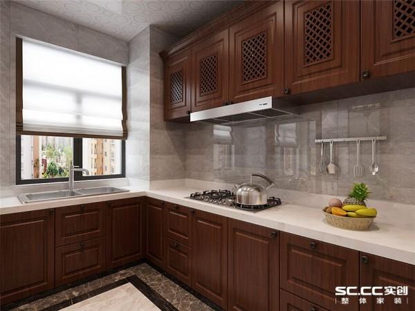 对于女主人来说,厨房设计最关键的就是达到一定的使用要求,作为工作上的女强人,厨房即可以显示出他们对家庭热爱的一面,又是大展身手好好放松的一个地方,厨房设计体现了中式的稳重。