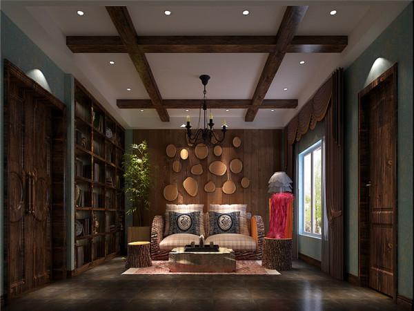 地下客厅:强调表面装饰,多运用细密绘画的手法,具有丰富华丽的效果。