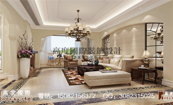 蜀郡客厅细节效果图----高度国际装饰设计最新案例