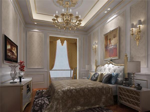 客卧:多用带有图案的壁纸、地毯、窗帘、床罩、及帐幔以及古典式装饰画或物件,体现华丽的风格。