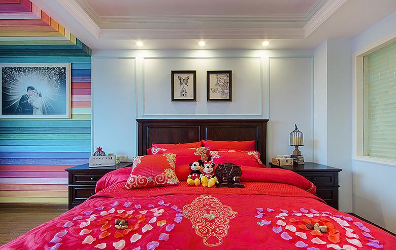 卧室图片来自家装大管家在暖暖温馨 120平简约美式混搭3居的分享
