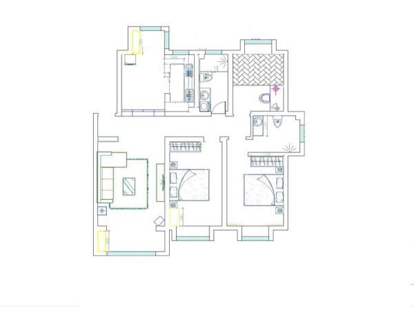 本案是东方鼎盛御府142平的装修设计,要求保持中式风格的雍容华贵的气度,但是要避免中式风格带来的沉闷。所以一直认为要做的风格是简约和中式的结合。