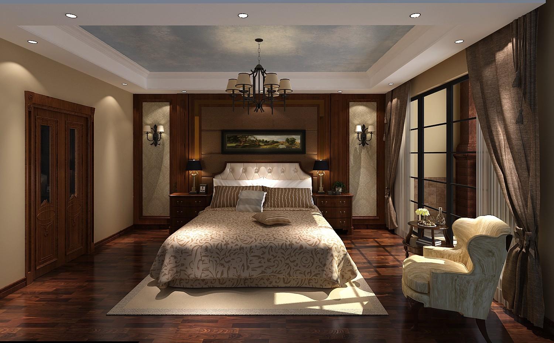 五居简约美式联排别墅卧室装修效果图片_装修美图-网
