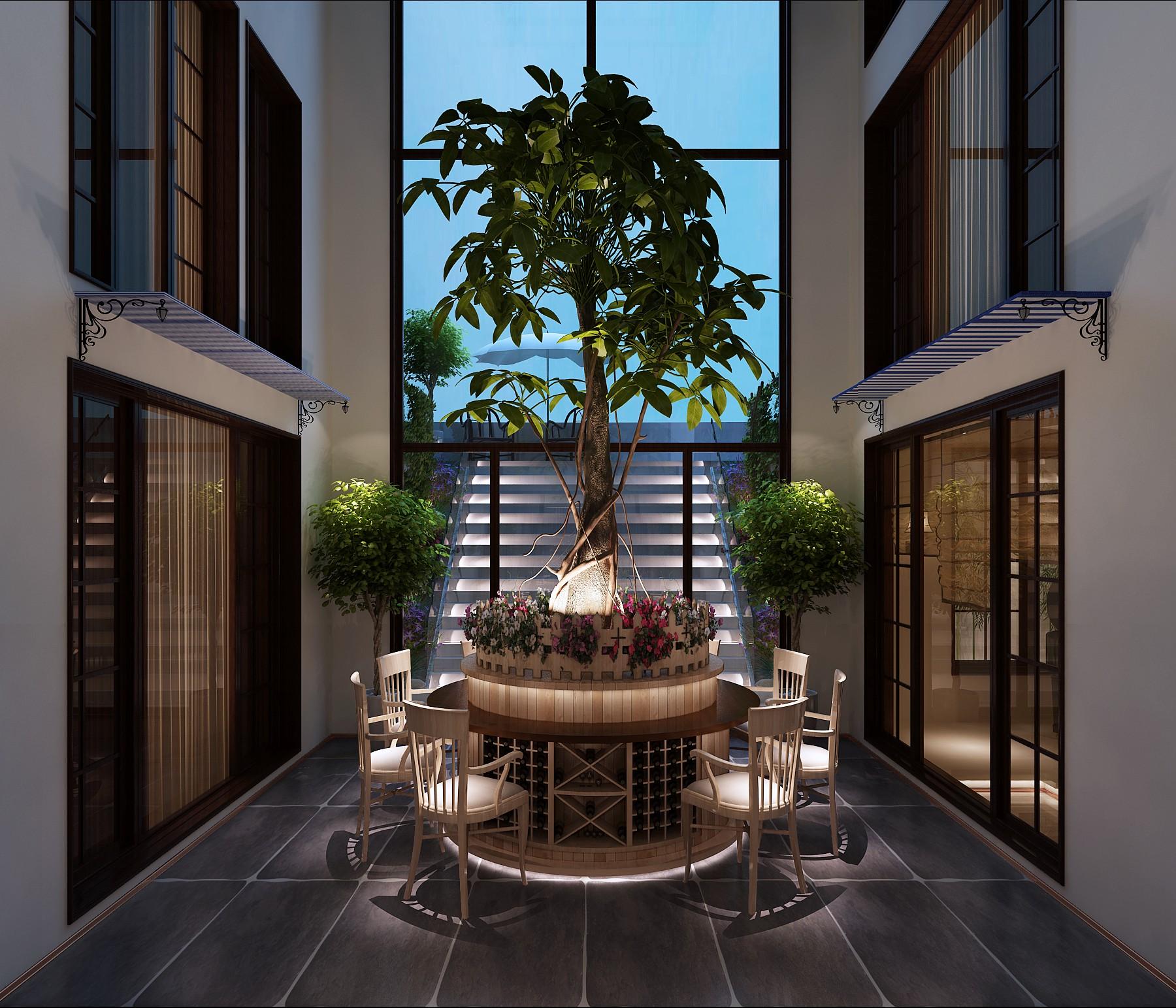别墅 六居 玄关图片来自高度国际装饰宋增会在北京院子1064平米中式风图片