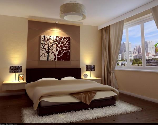 卧室采用强烈的对比色彩设计,让整个空间区分明显,卧室床头的单面壁纸与软包床头的巧妙结合,突出卧室的主体效果。
