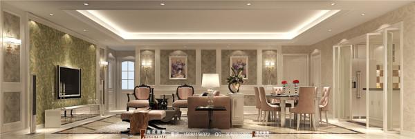 泰悦湾客厅细节效果图----高度国际装饰设计最新案例