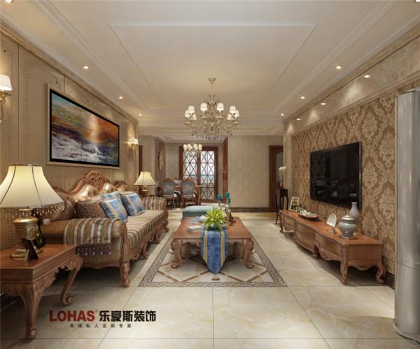 小区名称:天河悦城面积:129户型:三室两厅两卫风格:欧式风格造价:12万客厅地面采用地面局部花片拼花,代替地毯,好打扫出效果。