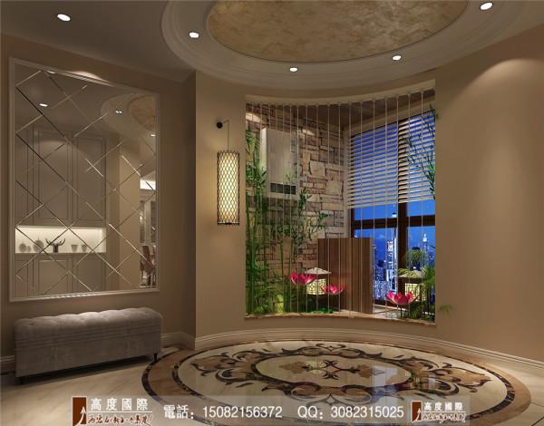 泰悦湾门厅细节效果图----高度国际装饰设计最新案例