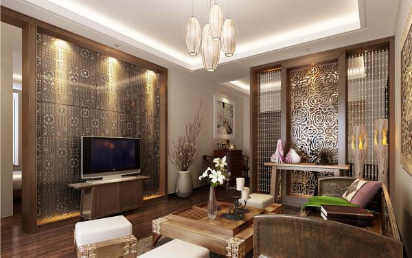 空间布局上以简洁为主,局部造型,就让中式元素唱主角了,在色调上设计师把握的非常自然,在冷调与暖调的对比上用了几种相邻和相对的色彩过渡,使得整间卧室体现了温馨和谐的家庭气氛